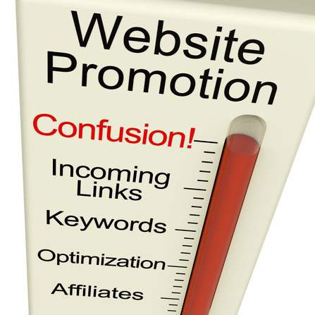 Website Promotion Confusion Shows Online SEO Strategy And Develo